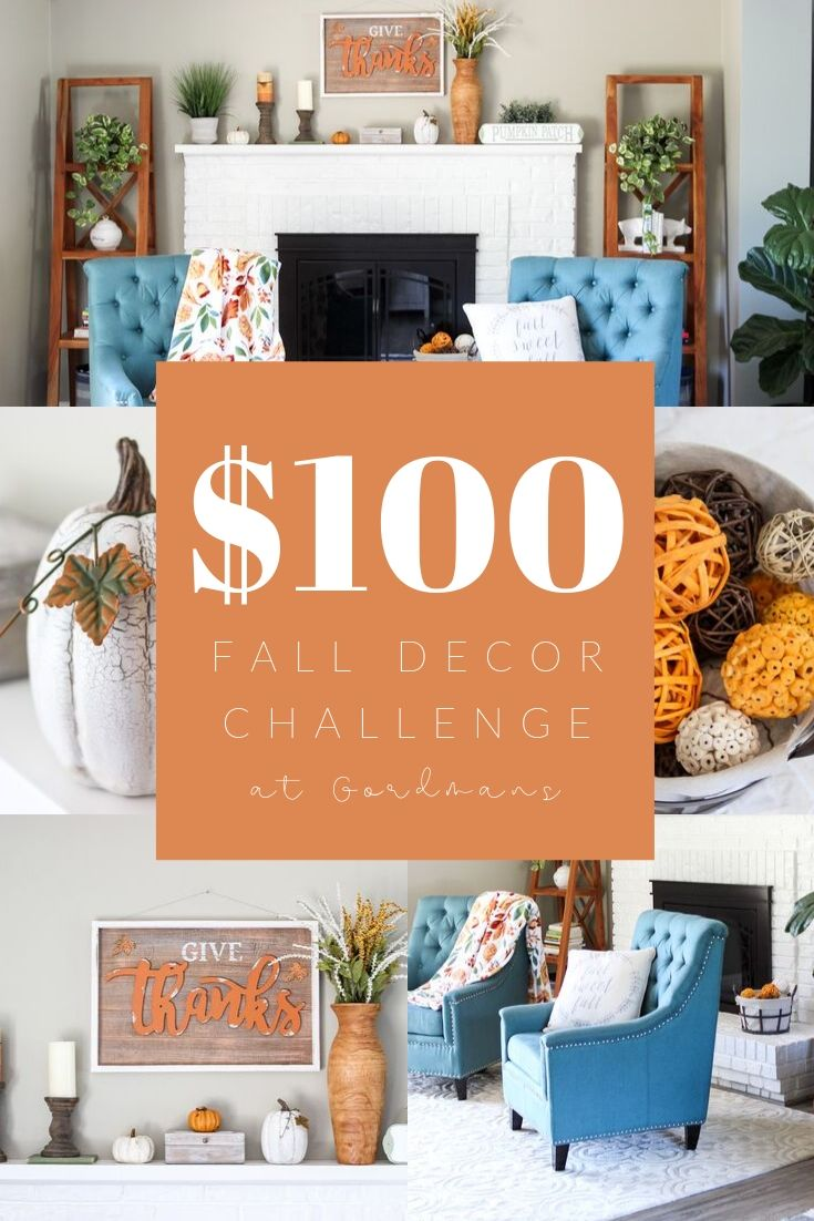 $100 Fall Inspired Decor Challenge