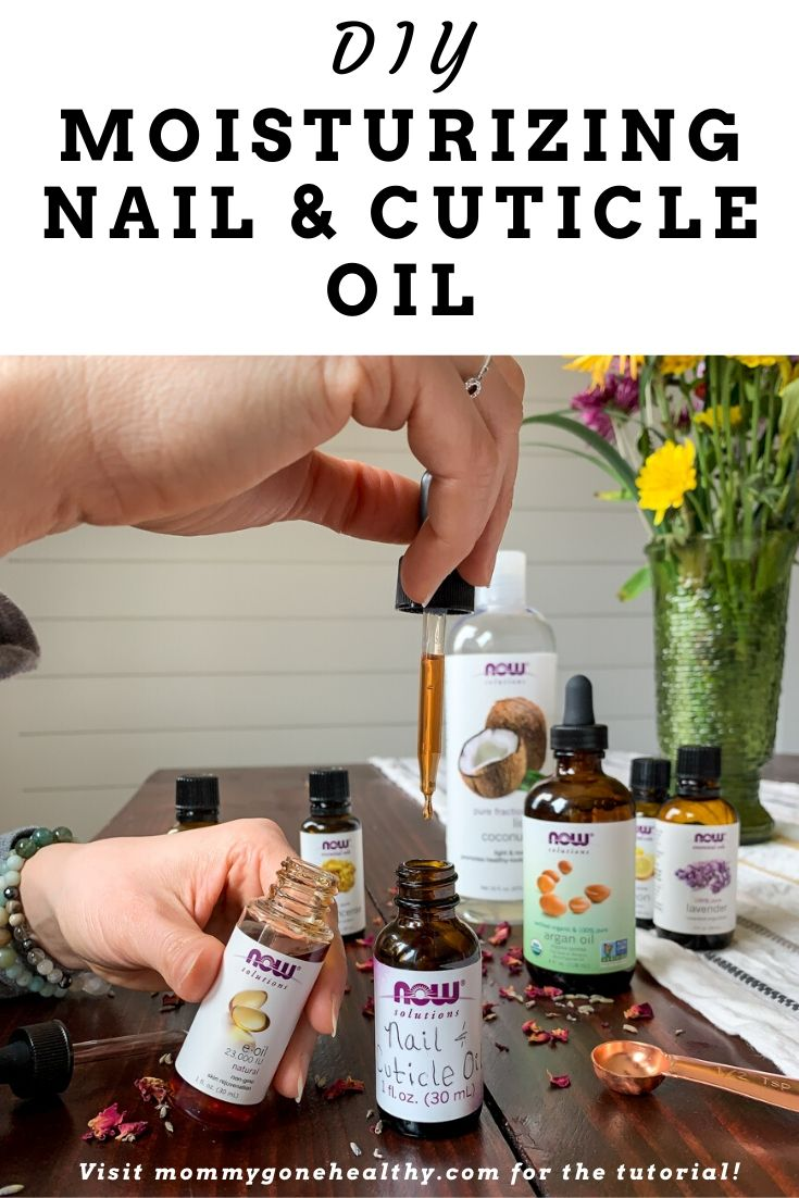 DIY moisturizing nail and cuticle oil